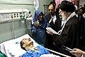 Ali Khamenei visits Ahmad Azizi - Imam Reza Hospital, Kermanshah.jpg