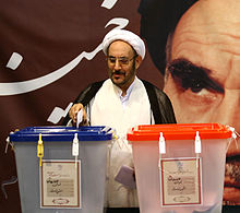 Ali Younesi voting in Jamaran.jpg