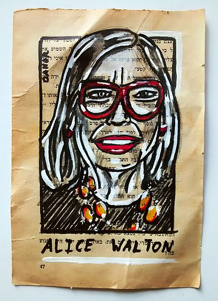 File:Alice Walton Portrait Painting Collage By Danor Shtruzman.jpg