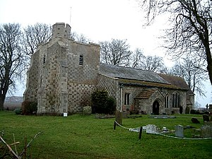 Chalgrave - Image: All Saints, Chalgrave , Chequered Stonework geograph.org.uk 116127