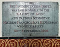 All Saints Church Farley, Wiltshire, England - Francisca Henderson memorial.jpg
