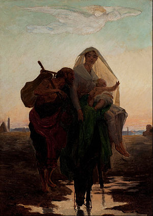 """Study for """"Flight of the Holy Family to Egypt"""""""