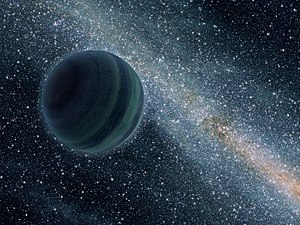 Rogue planet - Artist's conception of a Jupiter-size rogue planet.