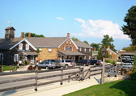 Amana Colonies were founded by German Pietists. Amana Colonies.JPG