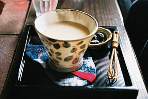 This is not milk, nor tea. It's 'amazake' or s...