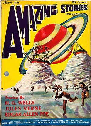 History of US science fiction and fantasy magazines to 1950 - The first issue of Amazing Stories, dated April 1926.  The cover art is by Frank R. Paul.