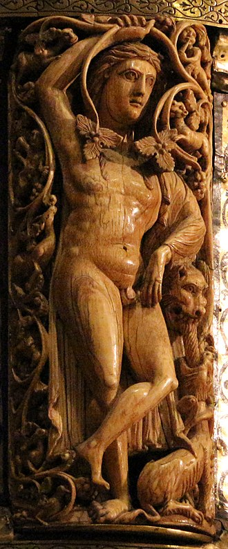 Ambon of Henry II - Detail: ivory plaque
