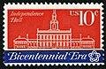 American Revolution Bicentennial Independence Hall 10c 1974 issue U.S. stamp.jpg