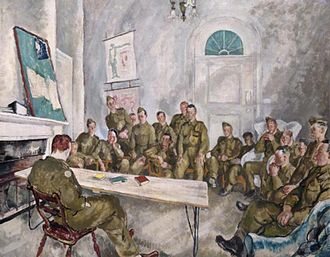 Steven Spurrier (artist) - An Army discussion group (1943)