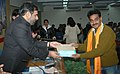 Anand Sharma presenting the first prize, of Bhartendu Harishchandra Awards-2006, in Children's Literature to Shri Rama Shankar, in New Delhi on January 06, 2009.jpg