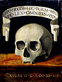 Andrea Previtali called Cordeliaghi - Portrait of a Man - Memento Mori - Google Art Project.jpg