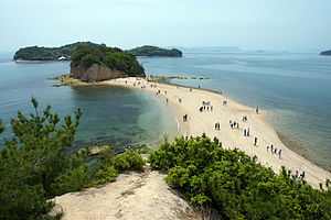 Shōdoshima - Image: Angel Road Shodo Island Japan 01s 3