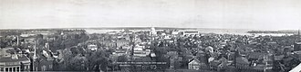 Annapolis, Maryland - View of Annapolis from the State House dome, 1911