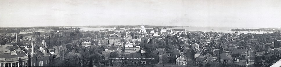 Annapolis panoramic view from State House, 1911