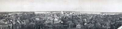 View of Annapolis from the State House dome, 1911