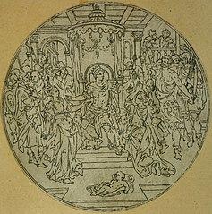 Medallion depicting the judgement of Solomon