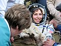 Anousheh Ansari after landing.jpg