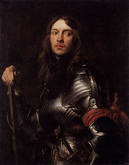 Anthony van Dyck - Portrait of a Man in Armour with Red Scarf - WGA07376