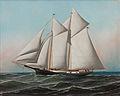Antonio Jacobsen - Portrait of an American Yacht Flying Flag of NY Yacht Club, 1887.jpg
