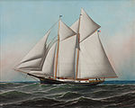 Antonio Jacobsen - Portrait of an American Yacht Flying Flag of NY Yacht Club, 1887.jpg
