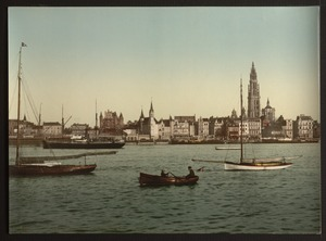 Antwerp across the Scheldt, photochrom (unedited original).tiff