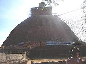 Kalinga Magha - Jetavanaramaya, one of the many massive stupas raided during Magha's reign.