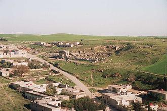 Roman Theatre at Apamea - Ancient Roman Theater near the modern village