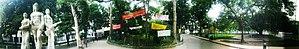 Aparajeyo Bangla - Image: Aparajeyo Bangla panorama , Bangladesh Liberation War sculpture