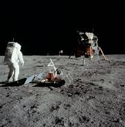 Mission Aplollo 11 sur la lune.