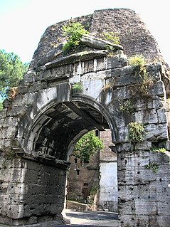 Arch of Drusus ancient arch in Rome, Italy