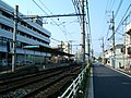 Arakawa tram line at Arakawa shato-mae (289752369).jpg