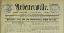 Arbeiterwille Banner 1890-11-26.png