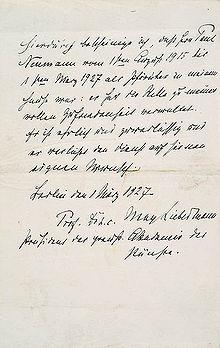handschriftliches arbeitszeugnis max liebermanns fr seinen pfrtner 1927 hierdurch bescheinige ich da herr paul neumann vom 1sten august 1915 bis 1sten - Schlechtes Arbeitszeugnis Beispiel