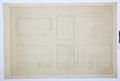 Arbetsritningar, fastigheten nr 4 Hamngatan. Badrummet - Hallwylska museet - 105298.tif