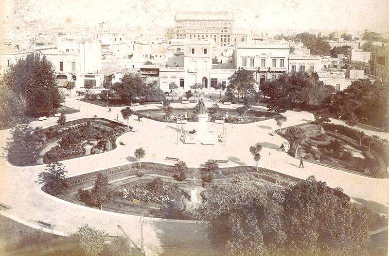File:Archivo General de la Nación Argentina 1890 aprox Buenos Aires, Plaza Libertad, al fondo las obras del Teatro Colón.jpg