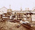Archivo General de la Nación Argentina 1890 aprox Buenos Aires, familias en el puerto.jpg
