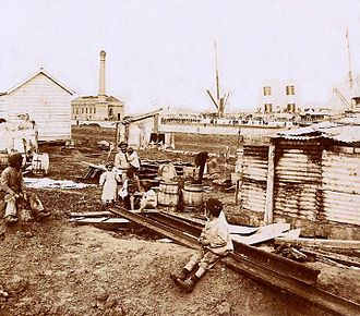 Port of Buenos Aires - Families at the Port of Buenos Aires, circa 1890.