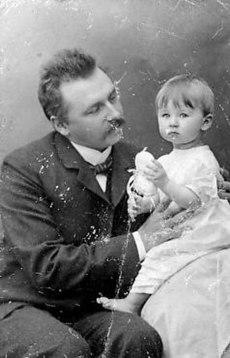 Armas Järnefelt med datteren Eva
