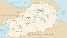 Το Βασίλειο της Αρμενίας στη μέγιστη ακμή του κατά τη βασιλεία του Τιγράνη του Μέγα.
