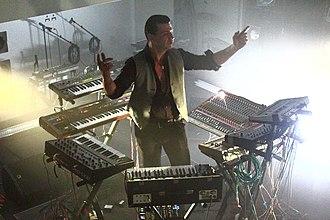 Black Strobe - Arnaud Rebotini, the band's frontman, performing in 2013