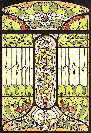 Arnold Lyongrün - Arnold Lyongrün: Proposal for an Art Nouveau window (Berlin, New York, 1900)
