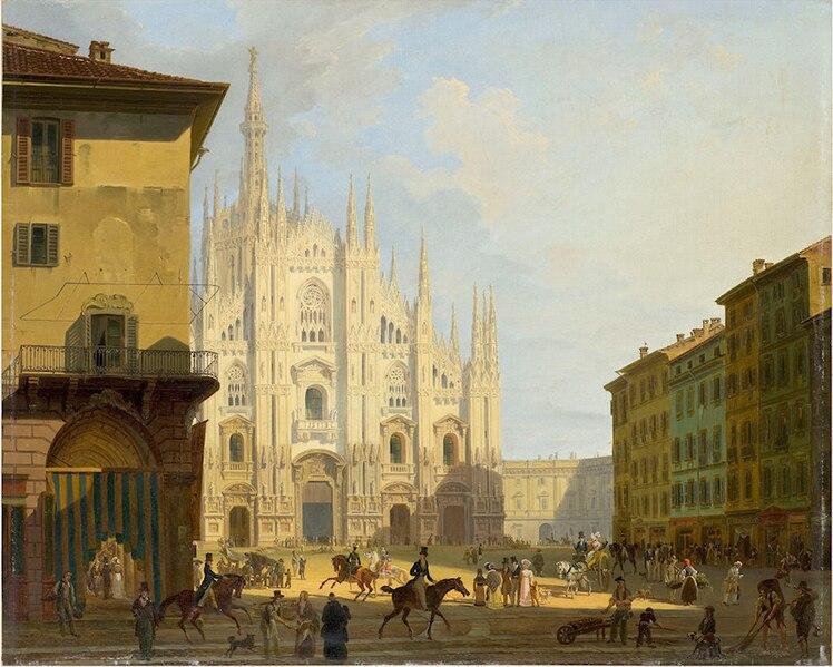 File:Artgate Fondazione Cariplo - Migliara Giovanni, Veduta di piazza del Duomo in Milano.jpg