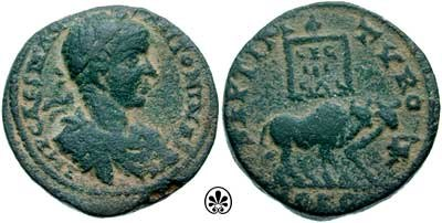 As Elagabalus 218-leg 3 Gallica