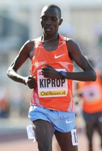 2010 African Championships in Athletics - Reigning Olympic champion Asbel Kiprop broke the 1500 m record to win gold for Kenya.