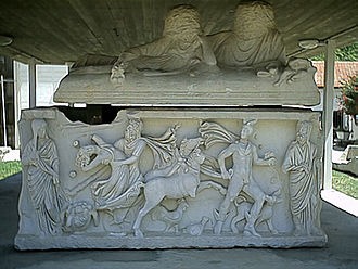 Ashkelon - Ancient sarcophagus in Ashkelon
