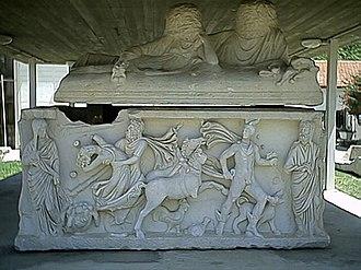 Ashkelon - Ancient sarcophagus in Ashkelon