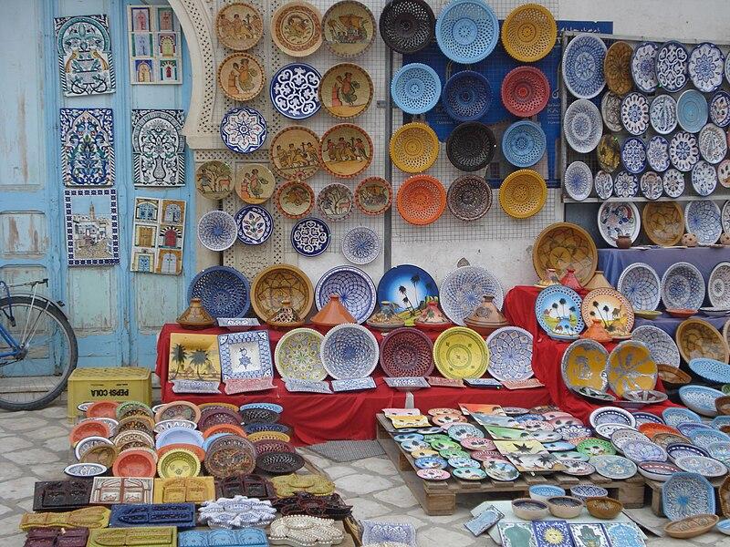 الصناعة التقليدية التونسية 800px-Assiette_Kairouan