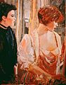 At the Window The Cousins 40x30. oc 1984 Private Collection.jpg