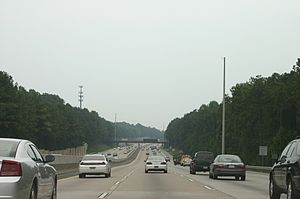 Georgia State Route 400 - Southbound lanes of 400 north of Pitts Road overpass