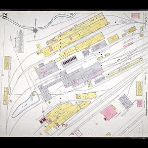 Atlantic Steel - Atlanta Steel Mill, fire map 1911